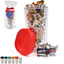 Asbury Clear Tumbler Gift Set w/ Mixed Chocolates, 14oz.