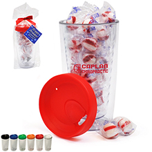 Asbury Clear Tumbler Gift Set w/ Peppermint Puffs, 14oz.