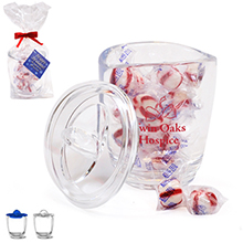 Aria® Acrylic Apothecary Jar Gift Set w/ Peppermint Puffs, 14oz.