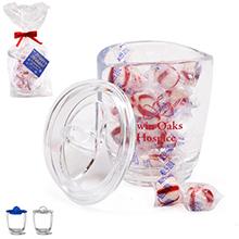 Aria® Acrylic Apothecary Jar Gift Set w/ Peppermint Puffs, 14oz.