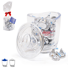 Aria® Acrylic Apothecary Jar Gift Set w/ Hershey's Kisses, 14oz.