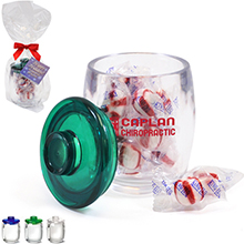 Depot Acrylic Apothecary Jar Gift Set w/ Peppermint Puffs, 11oz.