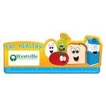 Eat Healthy Die Cut Ruler, 6""
