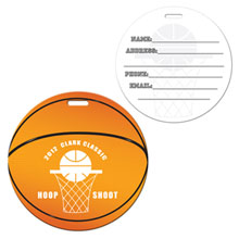 Basketball Die Cut Luggage Tag