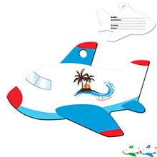 Airplane Die Cut Luggage Tag