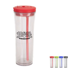 Clamp Swivel Straw Tumbler, 19oz.