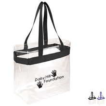 Clear Vinyl Stadium Tote - Free Set Up Charges!