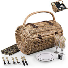Barrel Picnic Basket Set - Fashion Colors