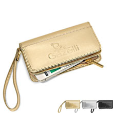 Sylvia Metallic Leather Wristlet Wallet - Free Set Up Charges!