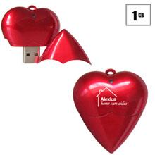 Heart USB Flash Drive, 1GB