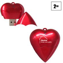 Heart USB Flash Drive, 2GB