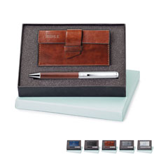 Fabrizio Card Case & Ballpoint Pen Gift Set