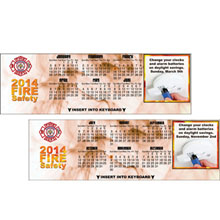 Fire Safety Keyboard Calendar