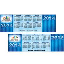 Cool Blue Keyboard Calendar