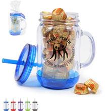 Acrylic Mason Jar Gift Set w/ Reese's Peanut Butter Cups, 20oz.