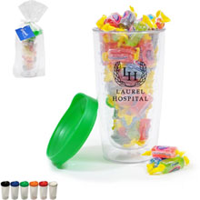 Asbury Clear Tumbler Gift Set w/ Jolly Ranchers, 14oz.