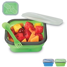 Collapsible Food Container w/ Spork