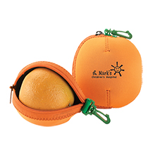 Orange Fruit Buddy Neoprene Pouch