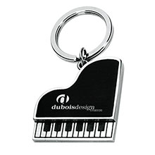 Metal Piano Key Chain