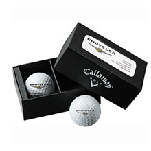 Callaway® 2-Ball Business Card Box w/ Hex Warbird Balls