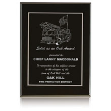 "Onyx Award Plaque, 10"" x 8"""