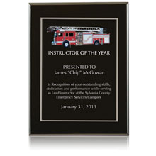 "Onyx Award Plaque, 12"" x 9"""