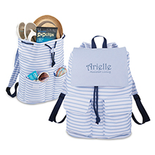 Seaside Rucksack - Blue Stripes - Free Set Up Charges!