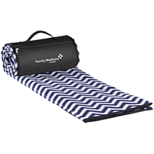 Roll-Up Picnic Blanket - Chevron