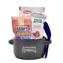 "Appreciation Breakfast & Lunch Soup Mug Gift Set, ""Our Nursing Staff Is Souper!"" Design, Stock"