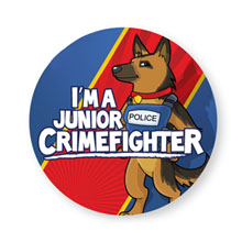 I'm a Junior Crimefighter Sticker Roll, Stock
