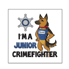 I'm a Junior Crimefighter Temporary Tattoo, Stock