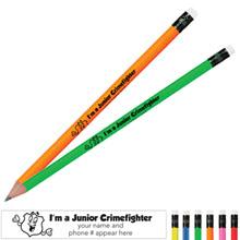 I'm a Junior Crimefighter Neon Pencil