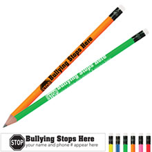 Bullying Stops Here Neon Pencil