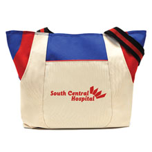 Limited Edition Royal/Red Double Pocket Trio Tote - Closeout, On Sale!