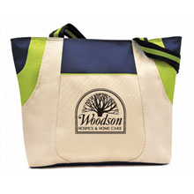 Limited Edition Navy/Lime Double Pocket Trio Tote - Closeout, On Sale!