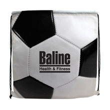 Soccer Style 210D Polyester Drawstring Backpack