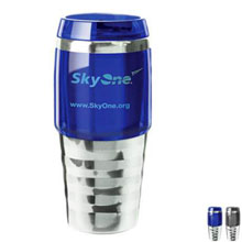 Steel Contour Travel Tumbler, 16oz. - Free Set Up Charges!
