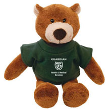 "Bear Plush Mascot, 8"""