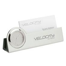 Clock w/ Business Card Holder