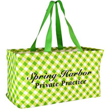 Large Utility Gingham Tote