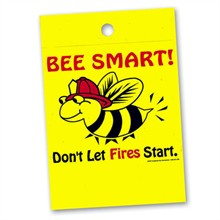 Litterbag, Bee Smart! Don't Let Fires Start Stock