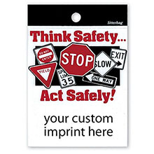 Think Safety...Act Safely Custom Litterbag