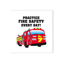 Fire Engine Practice Fire Safety Every Day Temporary Tattoo, Stock