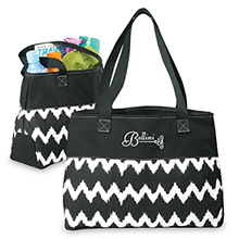 In Print Ikat Cotton Shopper Bag - Free Set Up Charges!