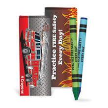 Four Pack Crayons, Practice Fire Safety Every Day, Stock