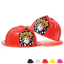 Fire Station Favorite Hat Black Shield Dalmatian Jr. Firefighter Design, Stock