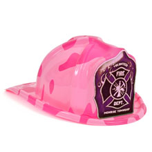 Chief's Choice Kid's Firefighter Hat Pink Camo, Custom Shield