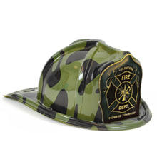 Chief's Choice Kid's Firefighter Hat Green Camo, Custom Shield