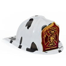 Chief's Choice Kid's Firefighter Hat Dalmatian, Custom Shield