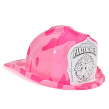 Chief's Choice Kid's Firefighter Hat, Dalmatian Color-Me Shield, Stock